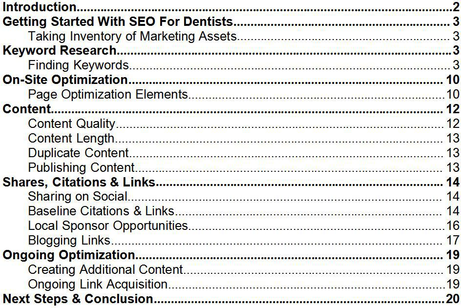 dentistry and dental practice SEO